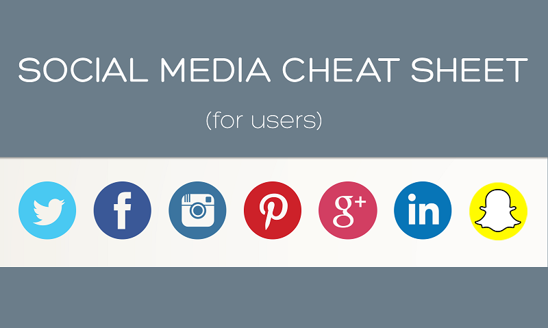 Social Media Cheat Sheet (For Users) #infographic