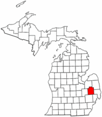 Climbing My Family Tree: Lapeer County, Michigan map