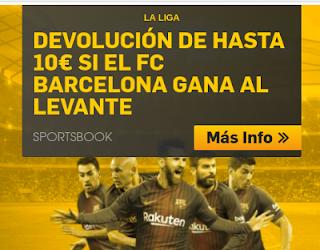 betfair devolucion 10 euros si Barcelona gana Levante 13 mayo