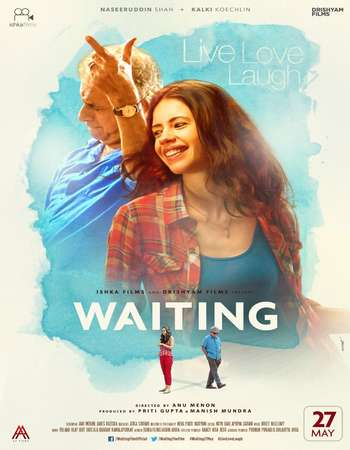 Poster Of Waiting 2016 Hindi 120MB DVDRip HEVC Mobile ESubs Watch Online Free Download Worldfree4u