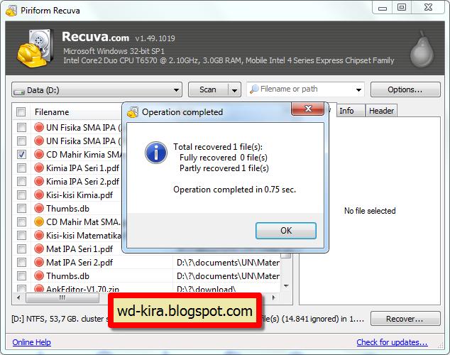 Kembalikan file terhapus dengan mudah
