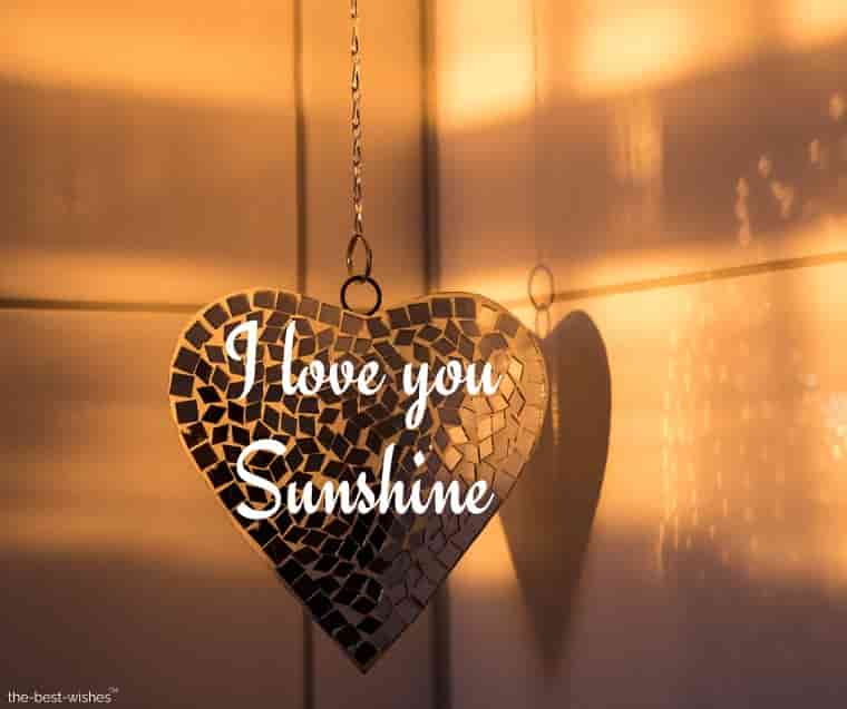 i luv you sunshine with heart pendant