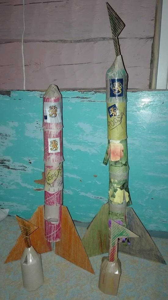 askarteluohje lasten raketti