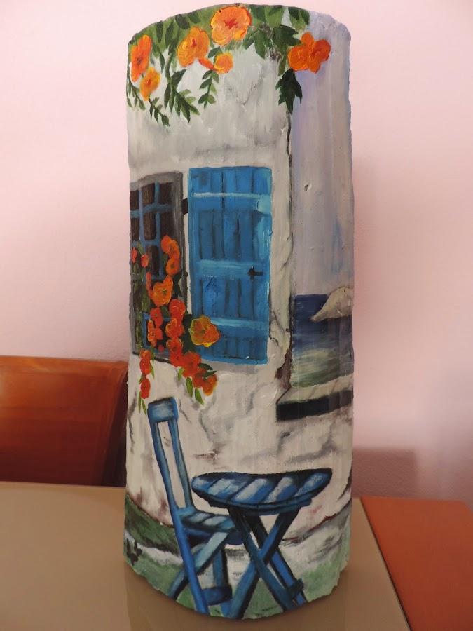 Teja decorada con servilletas papel de arroz y otros materiales estilo vintage manualidades - Dibujos para pintar en tejas ...