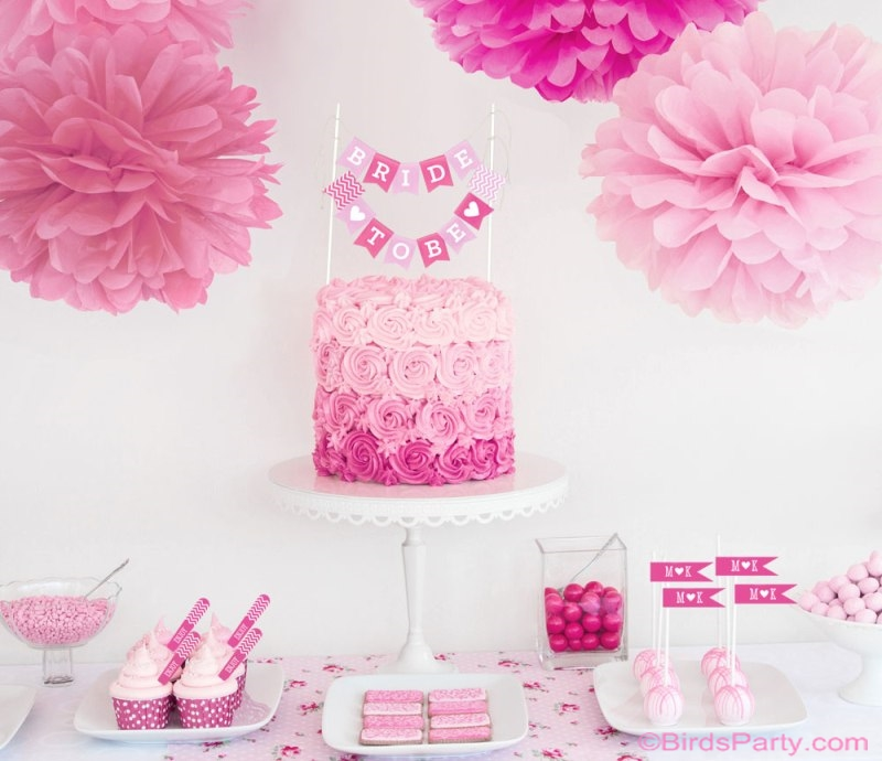 Diy Bridal Shower Wedding Decorations Party Ideas