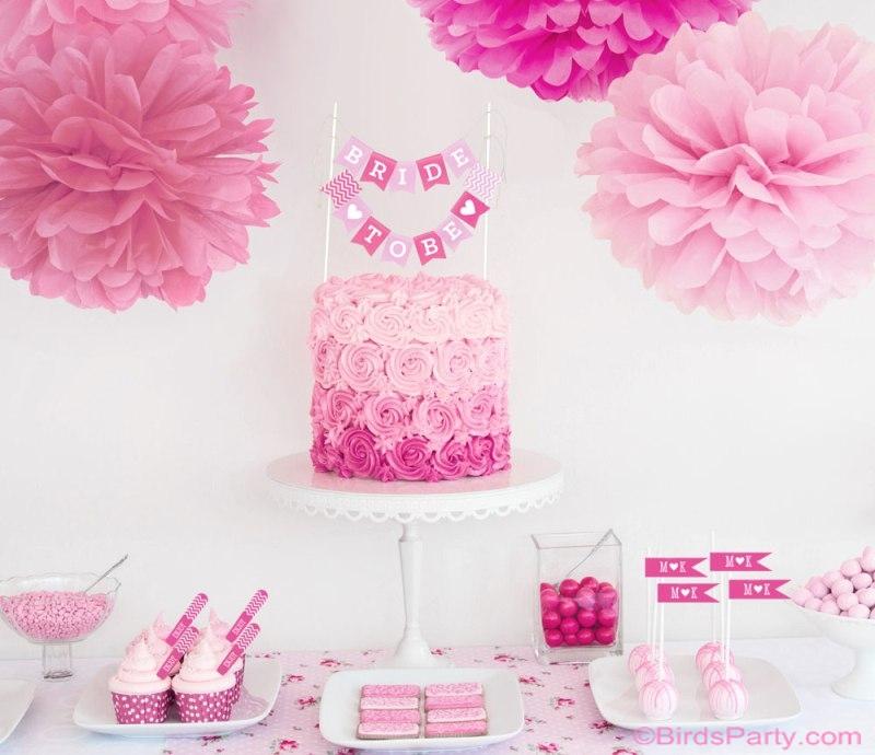 DIY Bridal Shower  Wedding Decorations  Party Ideas  Party Printables Blog