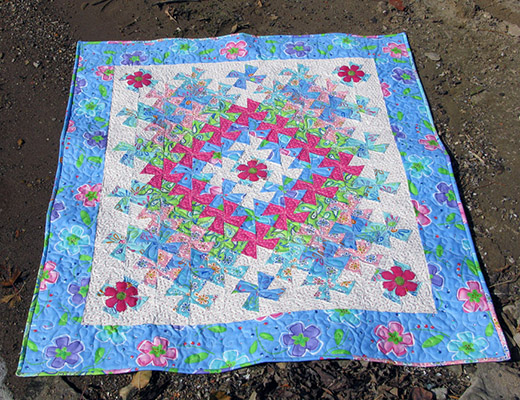 Worldly Lil Twister Quilt Free Tutorial