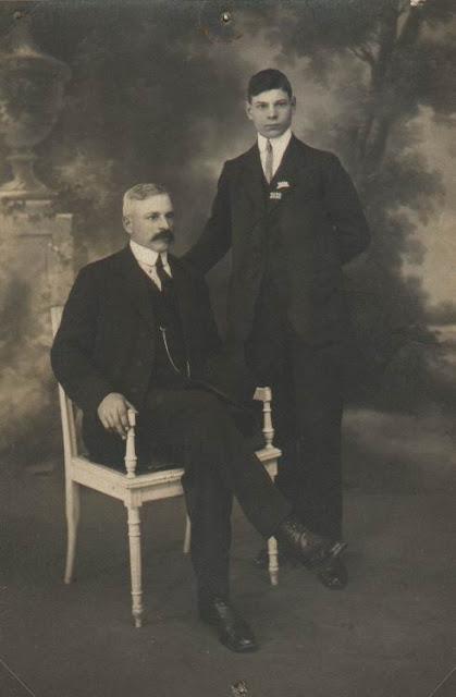 Louis HUGE et son fils Lucien vers 1915