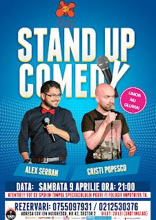 Stand-Up Comedy Sambata 9 Aprilie Terasa Florilor