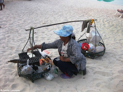 Beach vendor on Choengmon Beach
