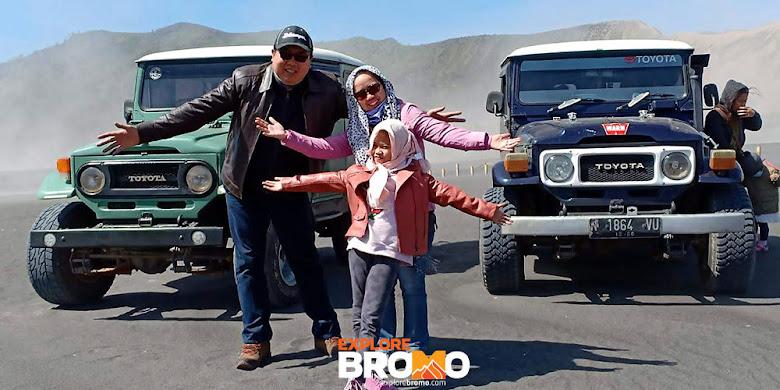 wisata bareng keluarga di kawah dan gunung bromo