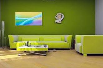 gambar warna cat ruang tamu 2 warna