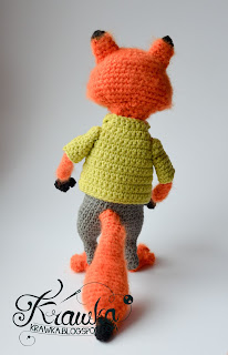 Krawka: Nick Wilde the red fox from Zootopia Crochet Pattern by Krawka