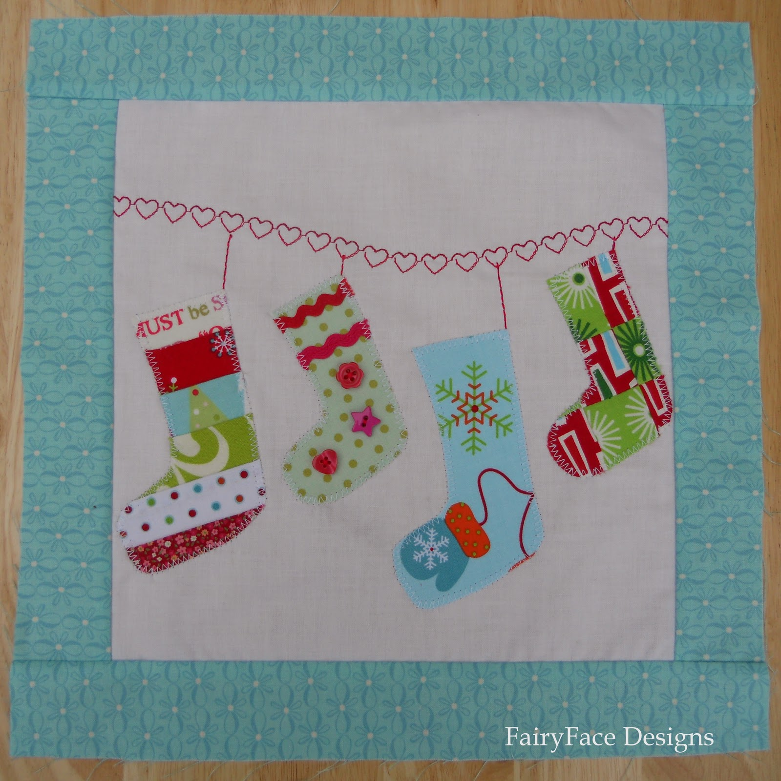 Fairyface Designs Christmas Stockings Block Tutorial