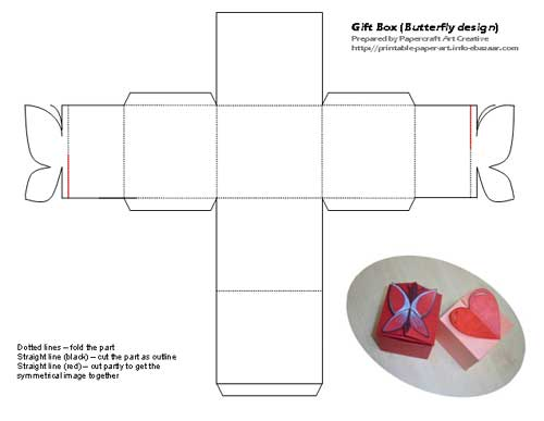 Bersatu Di Sini: Gift Box with love and butterfly shape design - photo#19