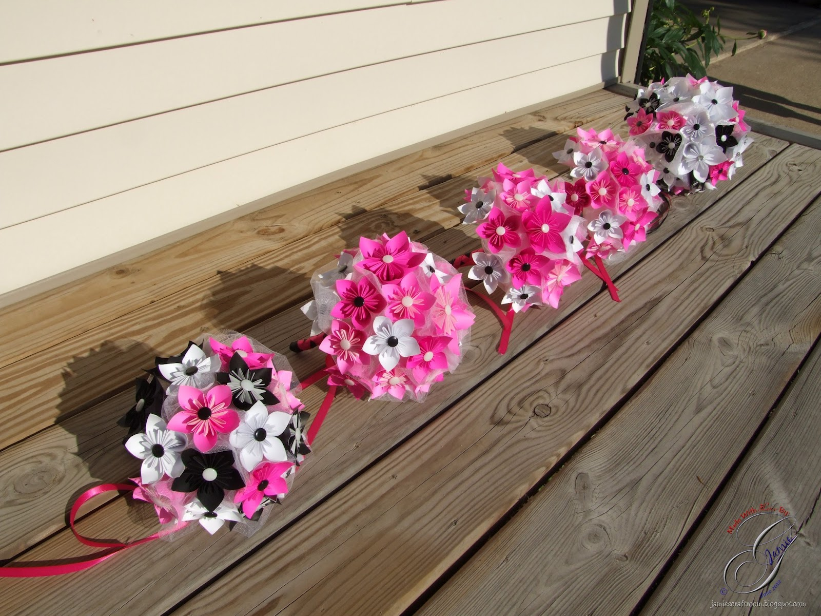 Jamie's Craft Room: Completed Kusudama Bridal Bouquets - photo#30