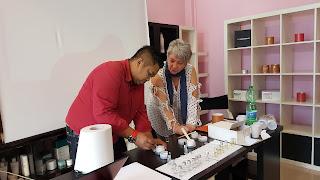 Fahmi Idris menjalani kursus produk kecantikan Dr Lauranne di Itali