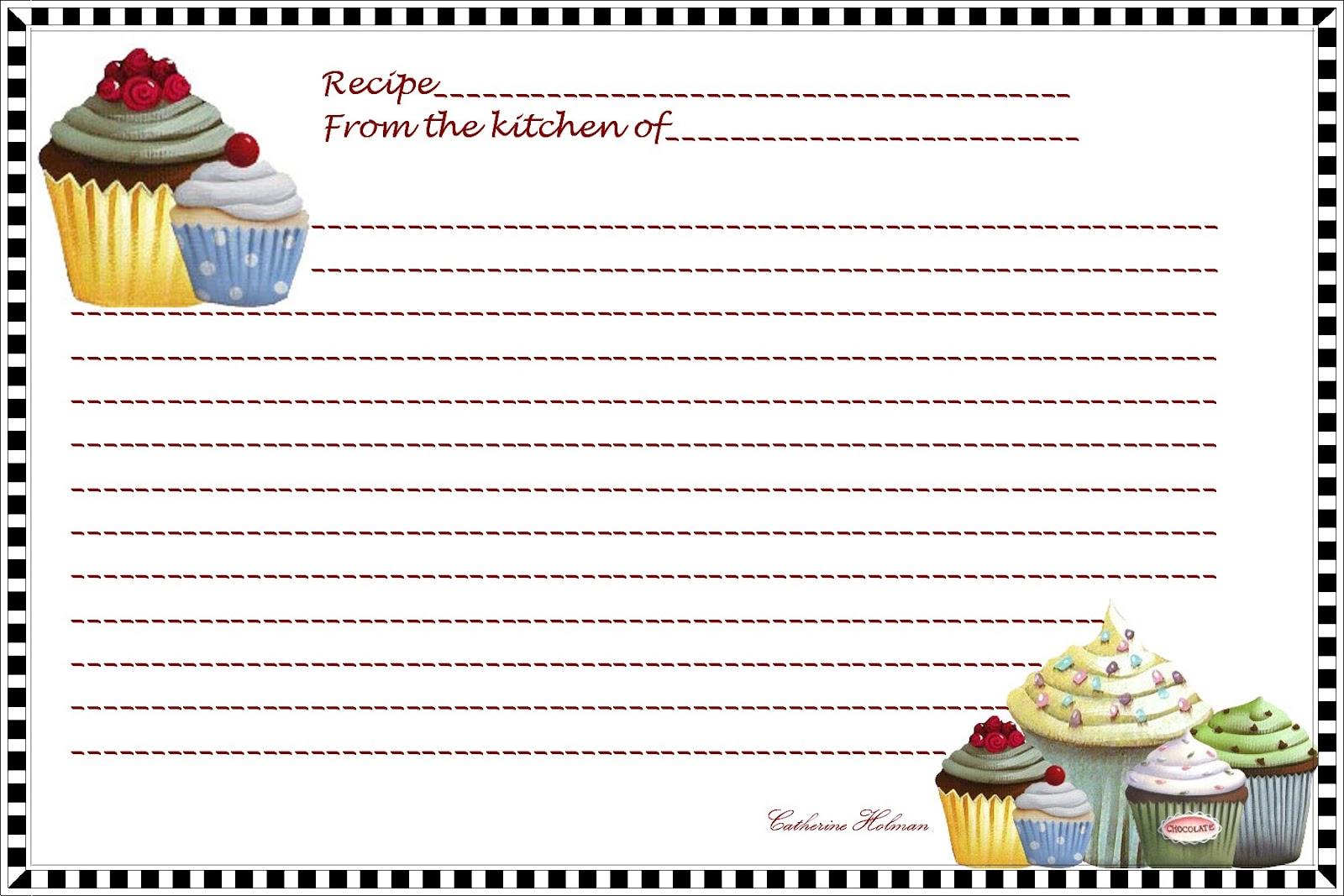 recipe index card template