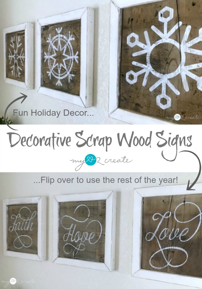 Decorative Scrap Wood Signs My Love 2 Create