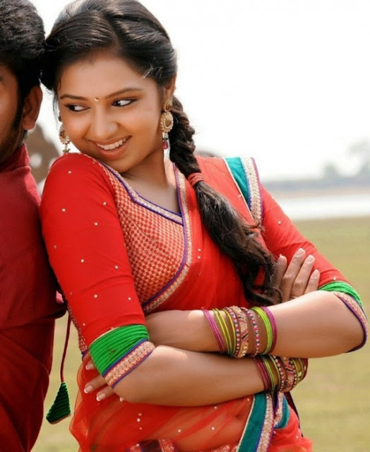 Only Actress 143: Lakshmi Menon Navel Show In Red Saree