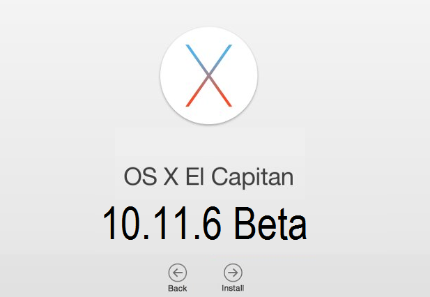 Mac OS X El Capitan 10.11.6 Beta