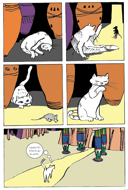 page one of the white cat oracle webcomic by artist David Borden.