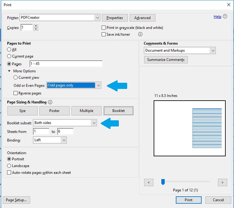 Setting PDF bolak balik