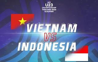 Susunan Pemain Indonesia vs Vietnam - Kualifikasi Piala Asia U-23