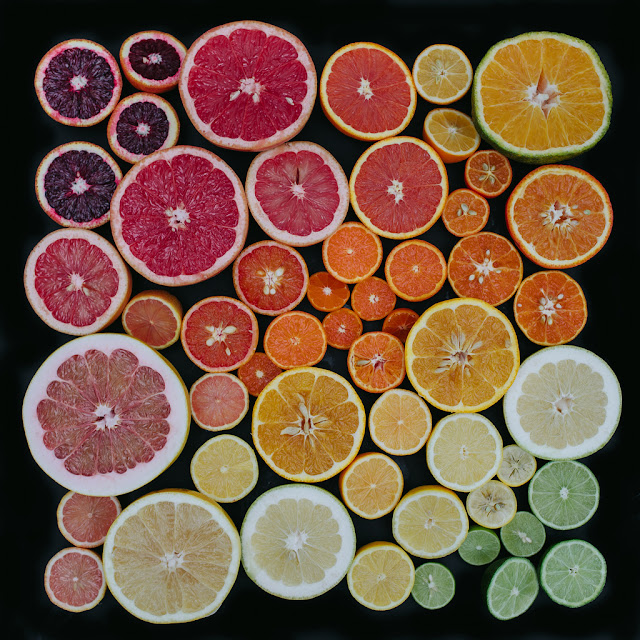 豊かな色彩!自然界の美しいグラデーション作品【Art】 柑橘類の断面グラデーション