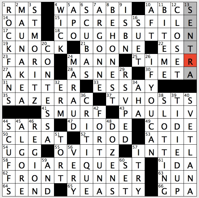 Perfectly clean crossword clue