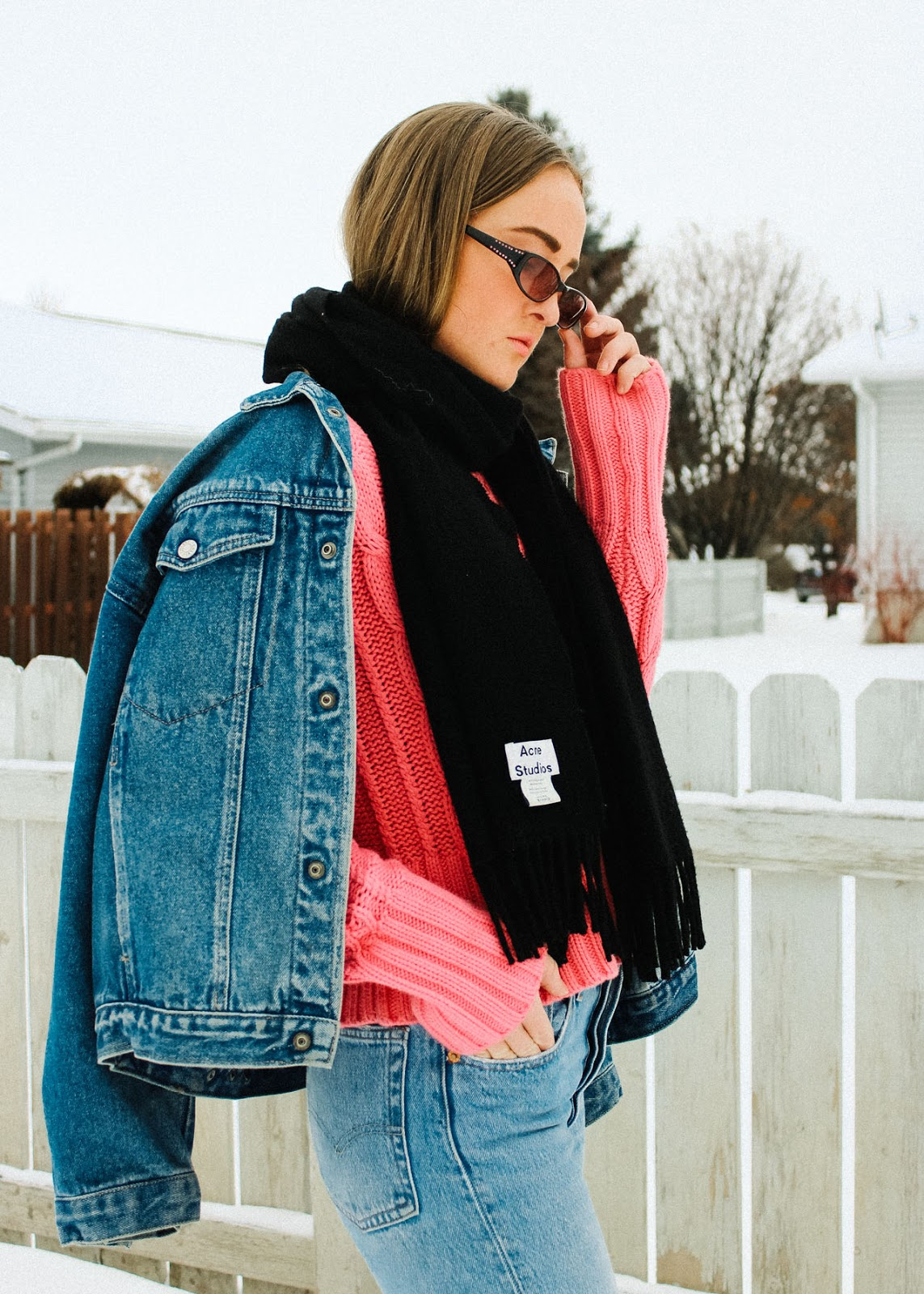 Acne Studios - Vintage Calvin Klein - Levi's - Winter Style - Outfit - Denim