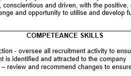 CV blooper - competeance skills