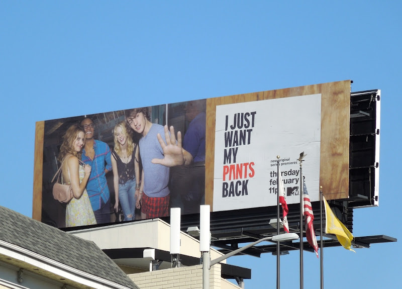 Just want my pants back billboard