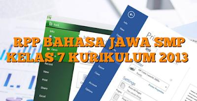 RPP Bahasa Jawa SMP Kurikulum 2013