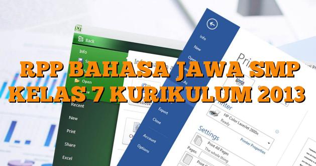 Rpp Bahasa Jawa Smp Kurikulum 2013 K13 Kelas 7 8 9