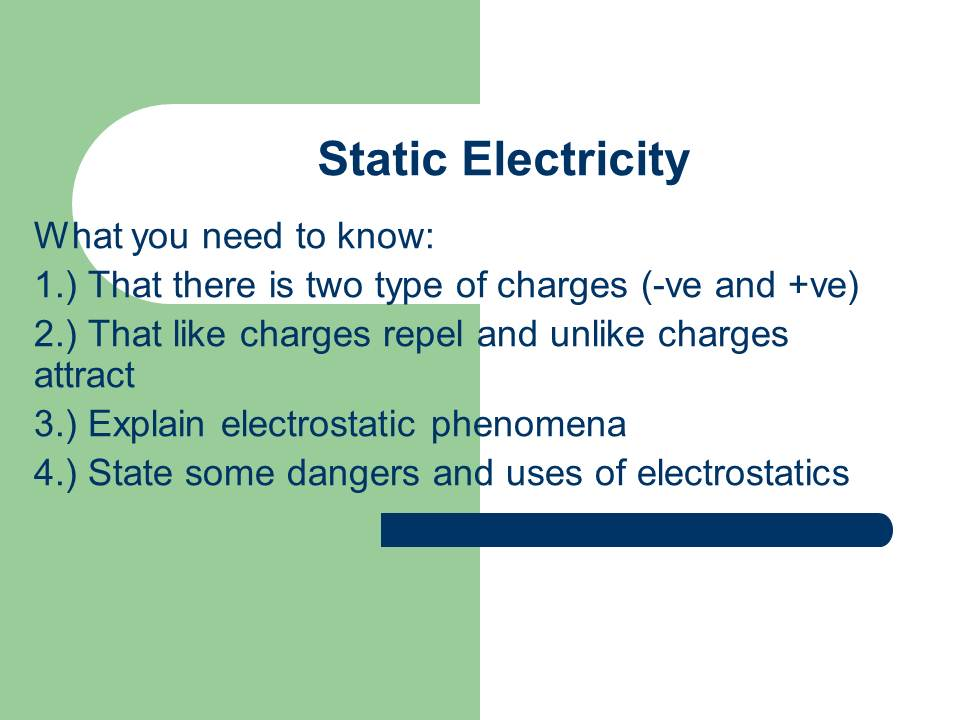 Gcse Physics Y11 Mod 12 Uses And Dangers Of Static