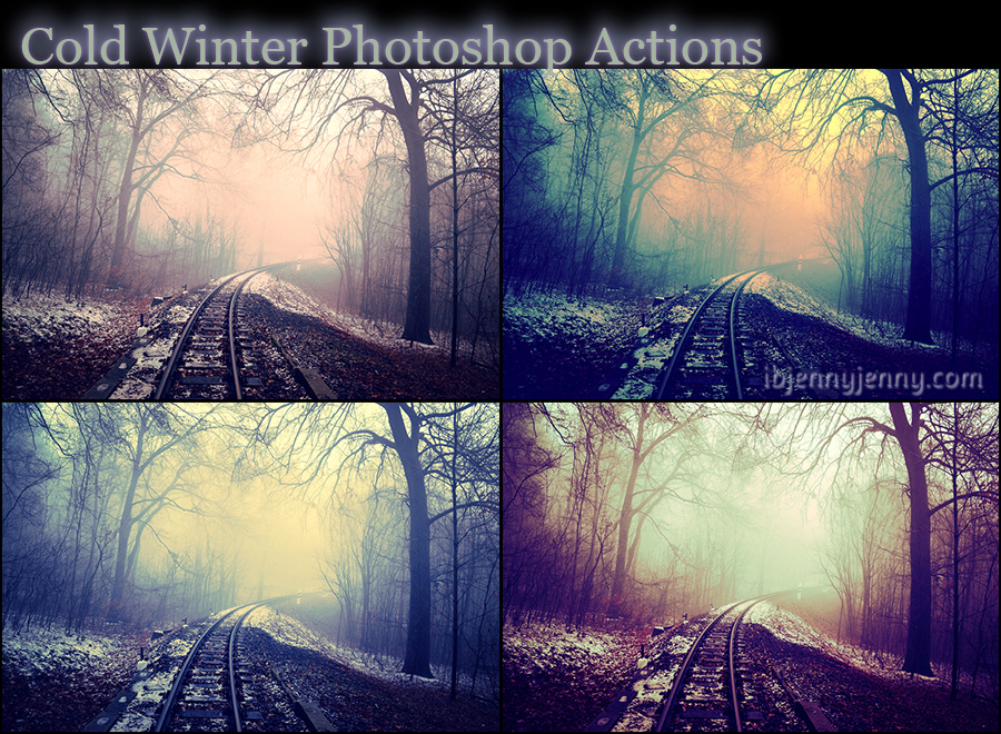 Cold Winter Photoshop Actions