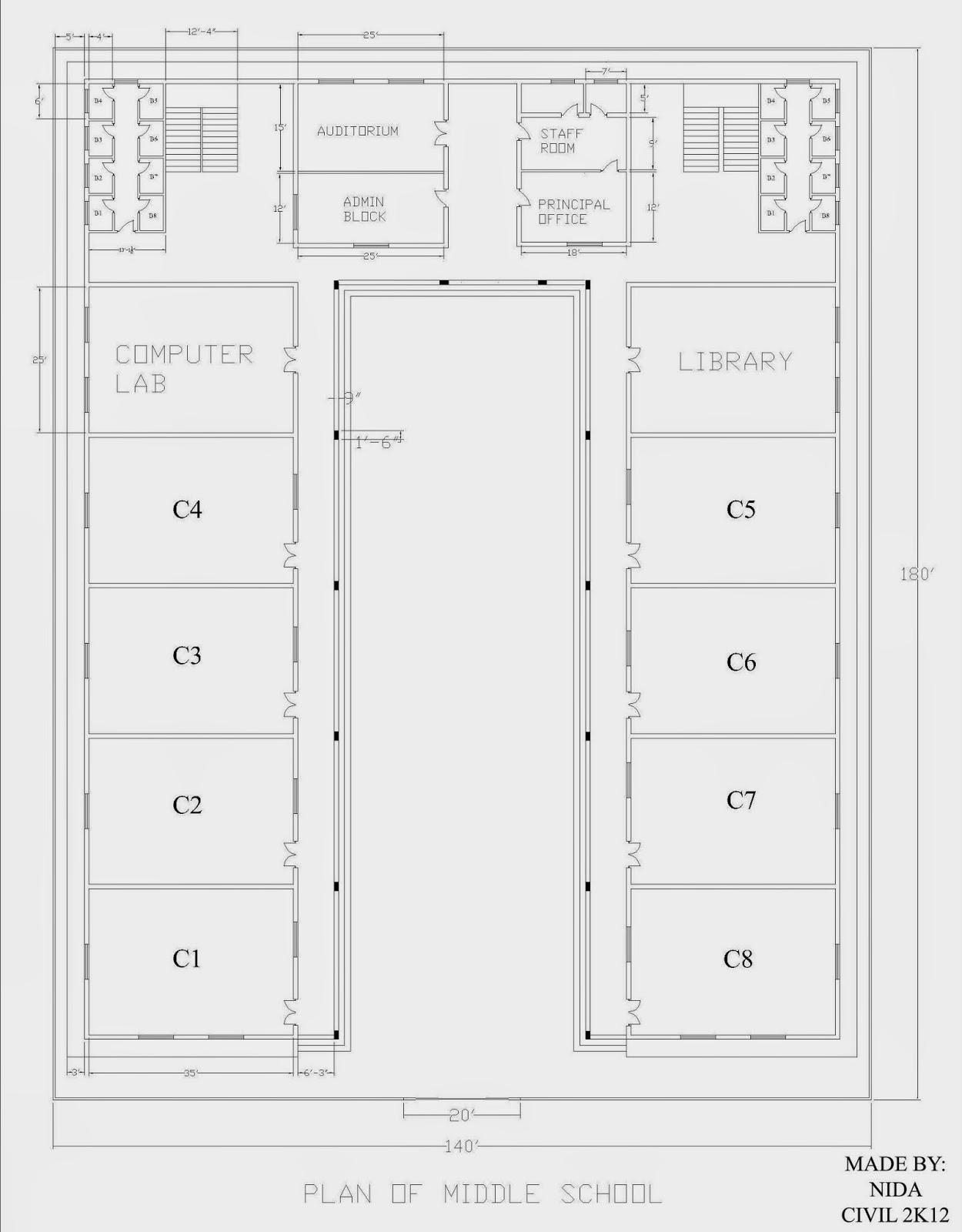 2D Plan Of School