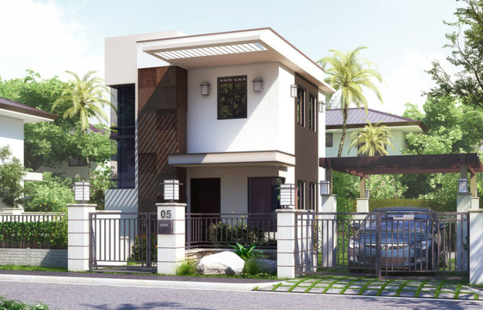 5 beautiful house stock images with construction plan for Up and down house design in the philippines