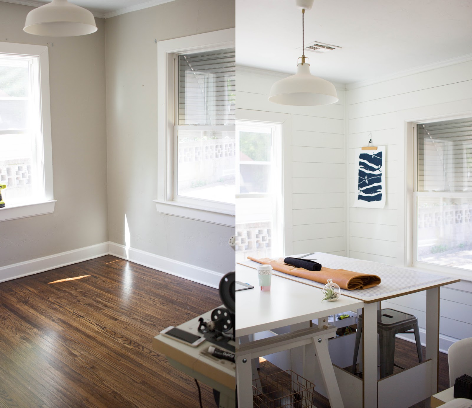 Always rooney how to shiplap a room for under 150 diy for Images of rooms with shiplap