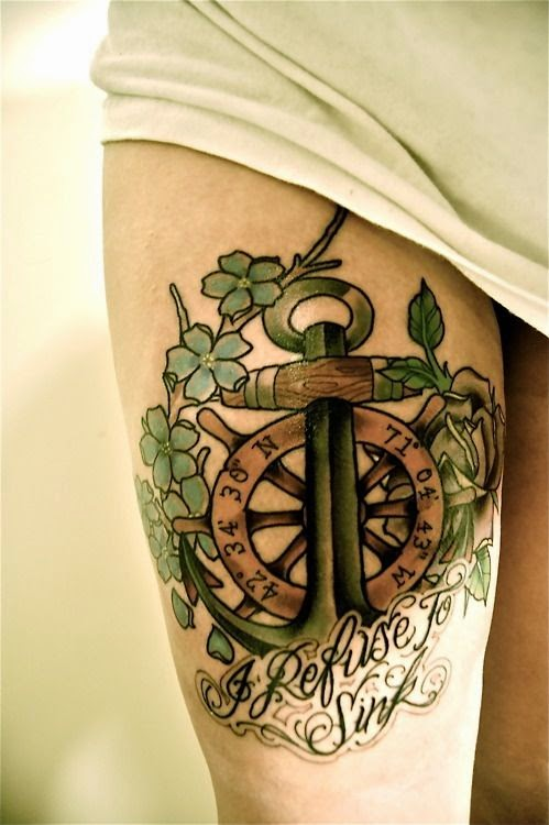 Tatuajes De Anclas Y Timon Significado Sfb
