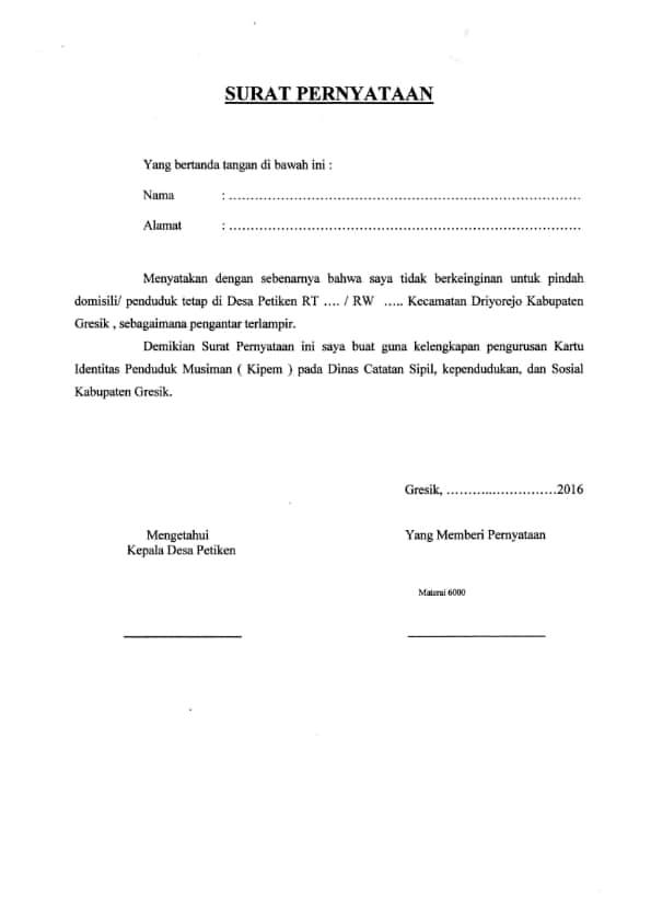Contoh Surat Domisili Yang Baik Dan Benar Dari Kelurahan ...