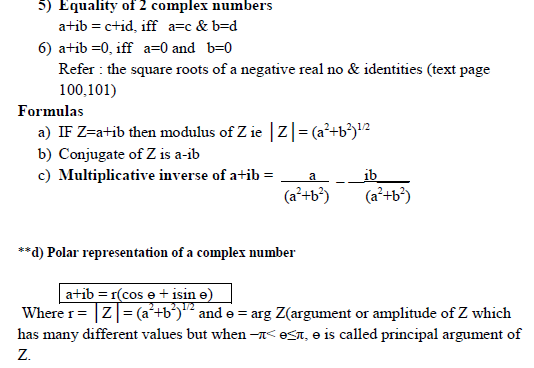 Complex numbers and quadratic  equations ,real and imaginary number,