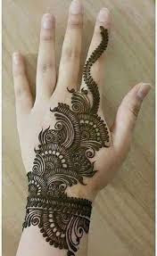 mehendi designs for hands backside