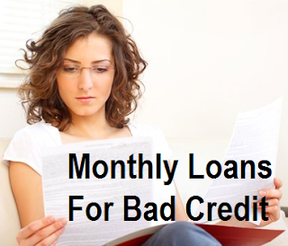 Monthly Loans For Bad Credit - Installment Payday Small Cash Loans : Monthly Loans For Bad ...