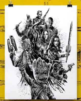 San Diego Comic-Con 2017 Exclusive Marvel's Guardians of the Galaxy Vol. 2 Screen Print by Anthony Petrie