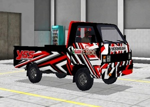 Livery Pickup Bussid YSS Castrol