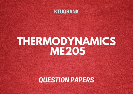 Thermodynamics | ME205 | Question Papers (2015 batch)
