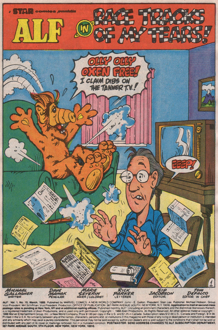 Read online ALF comic -  Issue #13 - 3