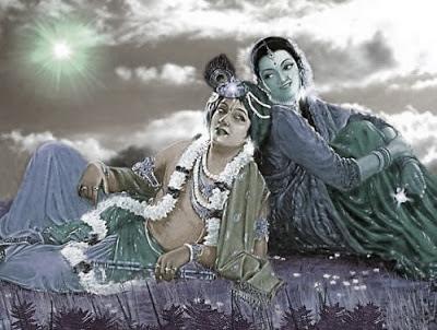 காளை மாட்டின் கண்களில் கண்னன் ராதை